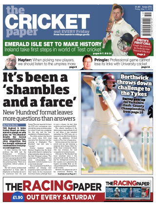 The Cricket Paper 11th May 2018