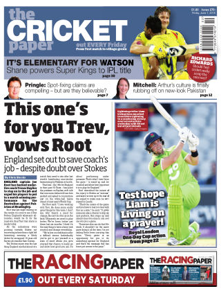 The Cricket Paper 1st June 2018