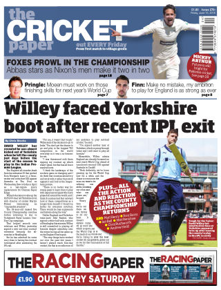 The Cricket Paper 15th June 2018