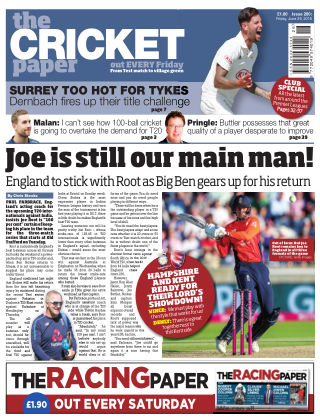 The Cricket Paper 29th June 2018