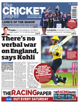 The Cricket Paper 6th July 2018