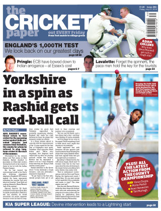 The Cricket Paper 27th July 2018