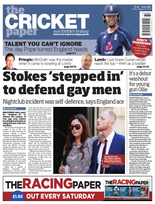The Cricket Paper 10th August 2018