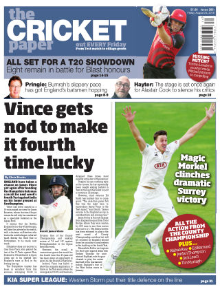 The Cricket Paper 24th August 2018
