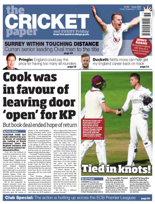 The Cricket Paper 7th September 2018