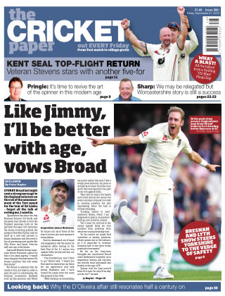 The Cricket Paper 21st September 2018