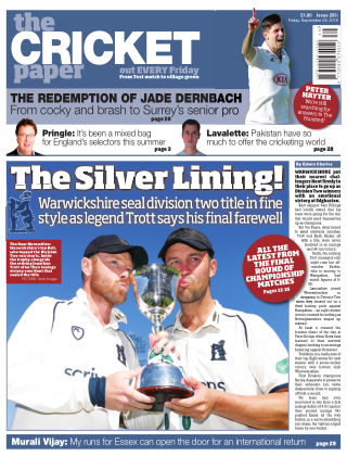 The Cricket Paper 28th September 2018