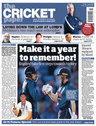 The Cricket Paper 18th January 2019