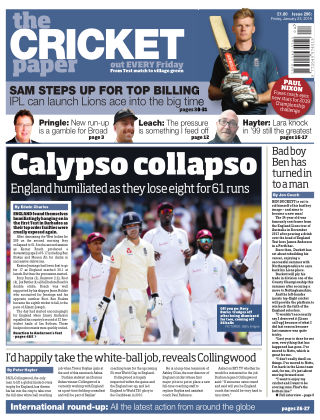 The Cricket Paper 25th January 2019