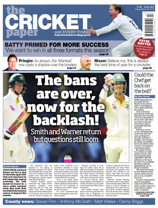 The Cricket Paper 29th March 2019
