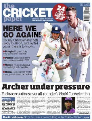 The Cricket Paper 5th April 2019