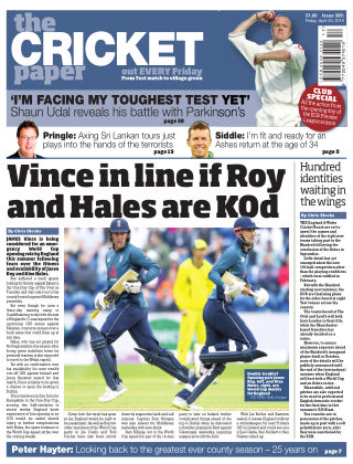 The Cricket Paper 26th April 2019