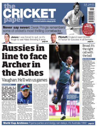 The Cricket Paper 10th May 2019
