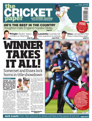 The Cricket Paper 22nd September 2019