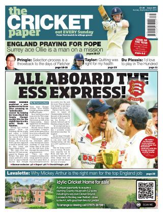 The Cricket Paper 29th September 2019