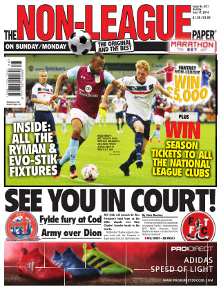 The Non-League Football Paper 17th July 2016
