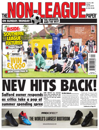 The Non-League Football Paper 22nd July 2018