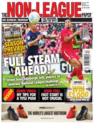 The Non-League Football Paper 29th July 2018