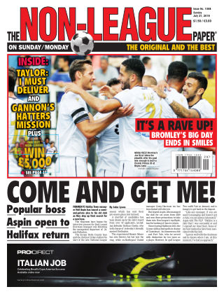 The Non-League Football Paper 21st July 2019