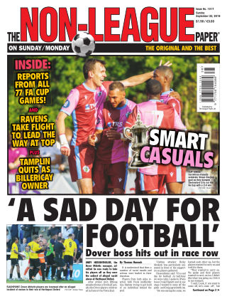 The Non-League Football Paper 22nd September 2019