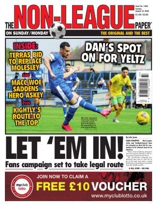 The Non-League Football Paper 16th August 2020