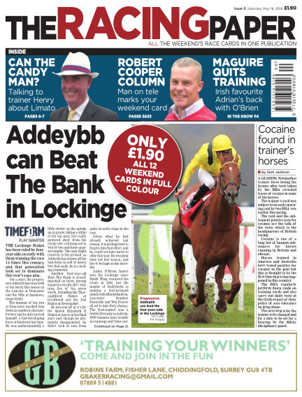 The Racing Paper May 19, 2018 00:00