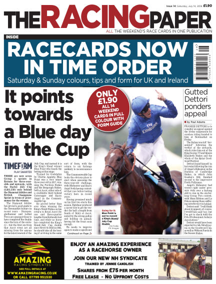 The Racing Paper July 14, 2018 00:00