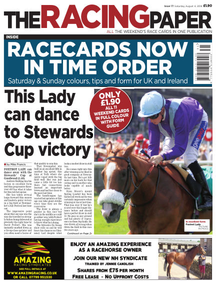 The Racing Paper August 04, 2018 00:00