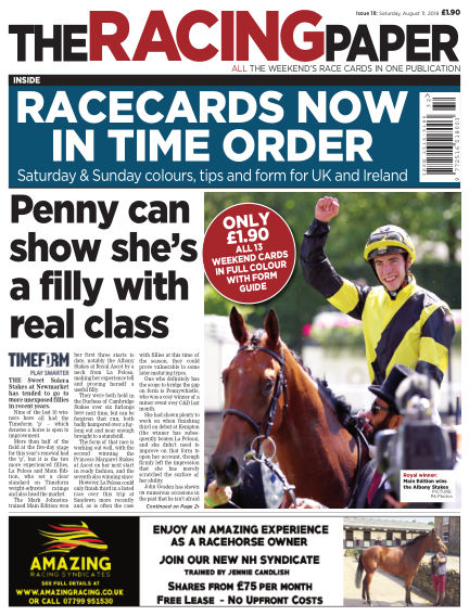 The Racing Paper August 11, 2018 00:00