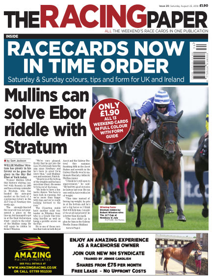 The Racing Paper August 25, 2018 00:00