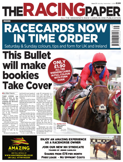 The Racing Paper September 01, 2018 00:00