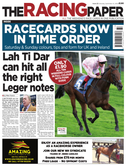 The Racing Paper September 15, 2018 00:00