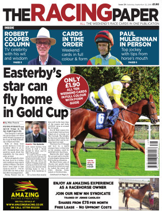 The Racing Paper 22nd September 2018