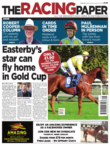 The Racing Paper September 22, 2018 00:00