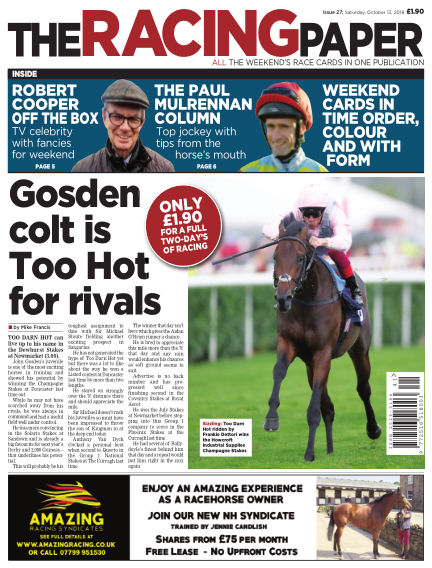 The Racing Paper October 13, 2018 00:00