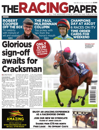 The Racing Paper 20th October 2018