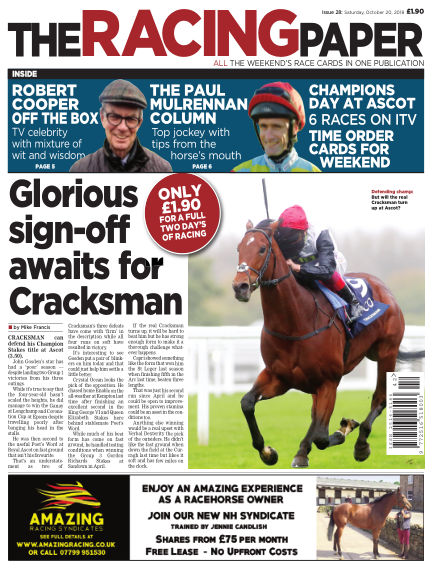 The Racing Paper October 20, 2018 00:00