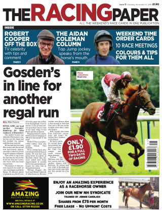 The Racing Paper 10th November 2018
