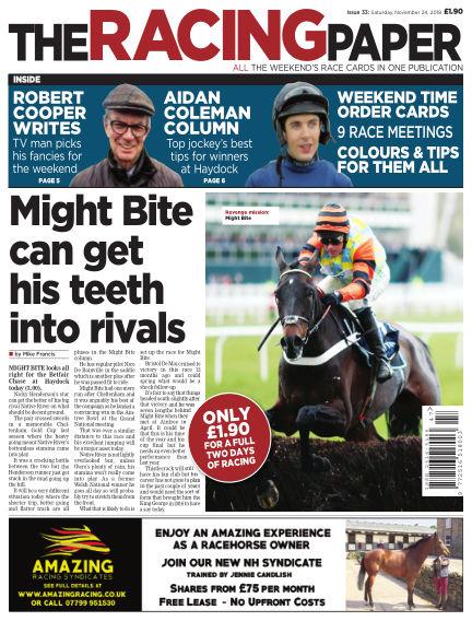The Racing Paper November 24, 2018 00:00