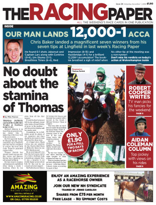 The Racing Paper 1st December 2018