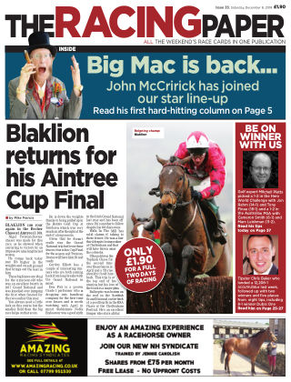 The Racing Paper 8th December 2018