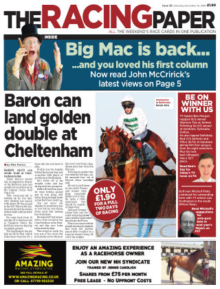 The Racing Paper 15th December 2018