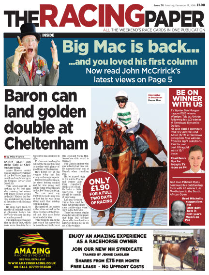 The Racing Paper December 15, 2018 00:00