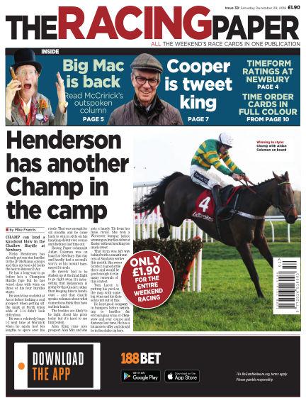 The Racing Paper December 29, 2018 00:00
