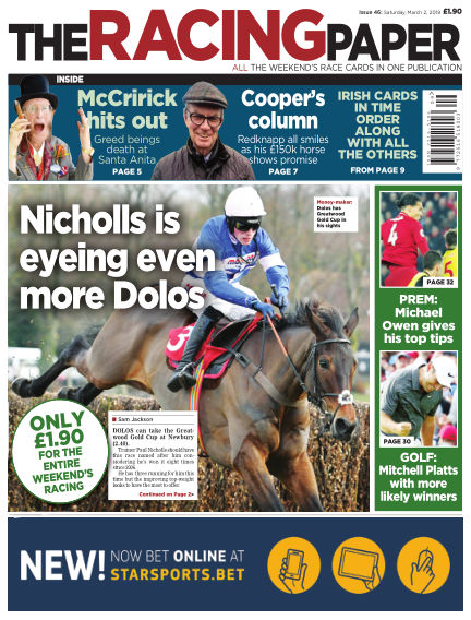 The Racing Paper March 02, 2019 00:00