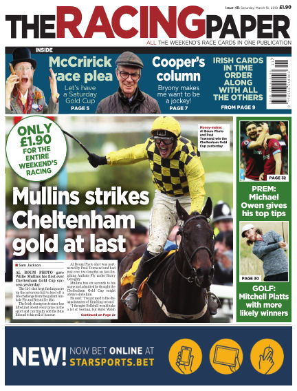 The Racing Paper March 16, 2019 00:00
