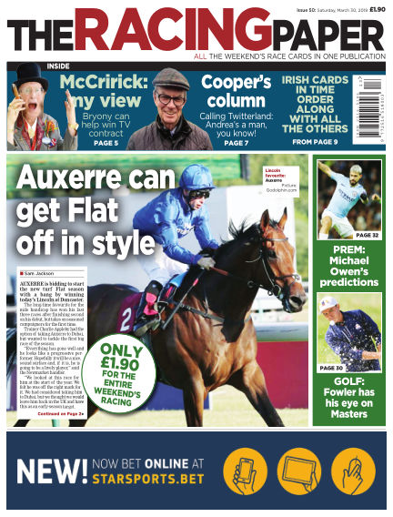 The Racing Paper March 30, 2019 00:00