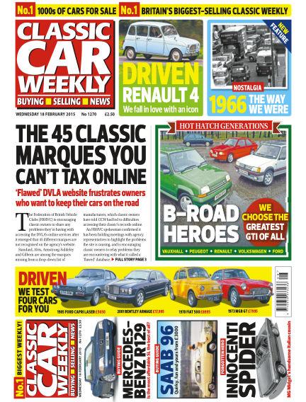 Classic Car Weekly February 18, 2015 00:00
