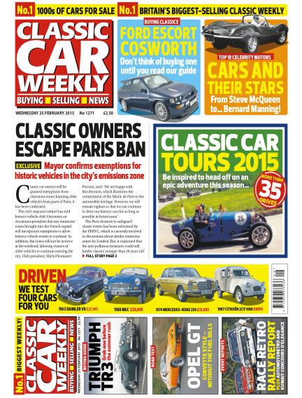 Classic Car Weekly February 25, 2015 00:00