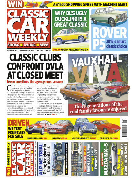 Classic Car Weekly September 23, 2015 00:00